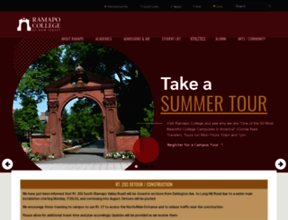 ramapo.edu screenshot