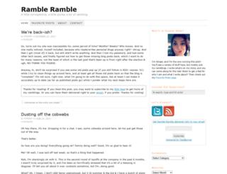 rambleramble.com screenshot