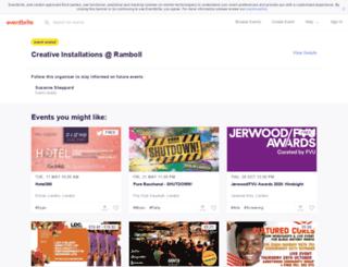 rambollcreativeinstallations.eventbrite.co.uk screenshot