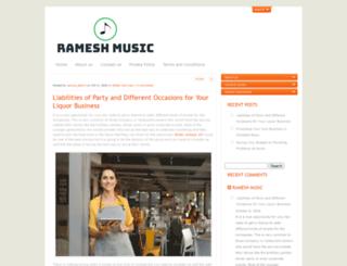 rameshmusic.com screenshot