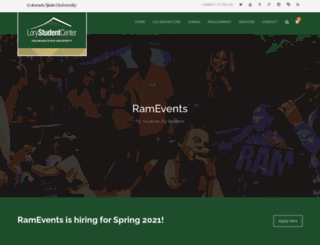 ramevents.colostate.edu screenshot
