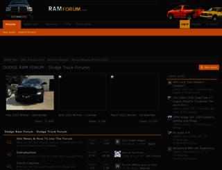 ramforum.com screenshot