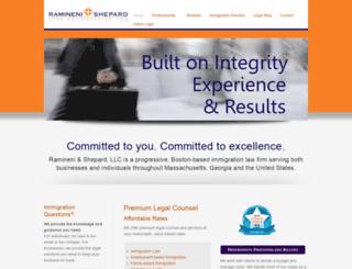 raminenilaw.com screenshot