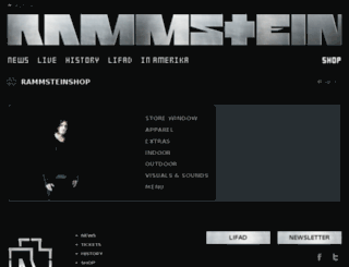 rammsteinshop.com.au screenshot