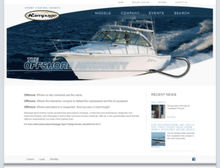 rampageyachts.com screenshot