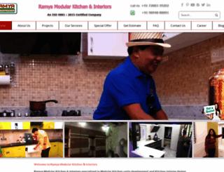 ramyamodularkitchen.com screenshot