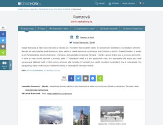 ramzova.ceskehory.cz screenshot