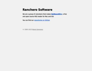 ranchero.com screenshot