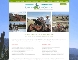 rancholascascadas.com screenshot