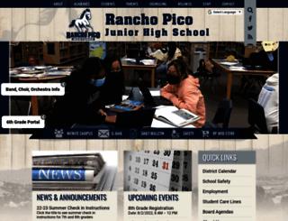 ranchopicojuniorhigh.com screenshot