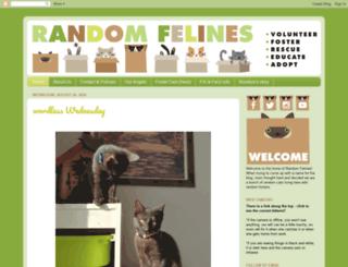 random-felines.com screenshot