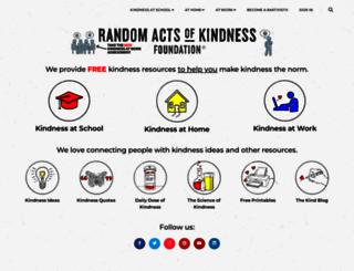 randomactsofkindness.org screenshot