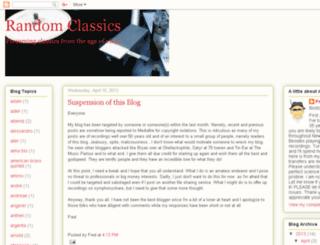 randomclassics.blogspot.com.au screenshot