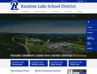 randomlake.k12.wi.us screenshot