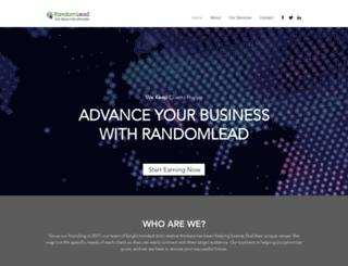 randomlead.com screenshot