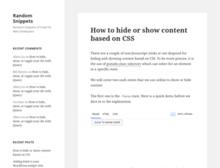 randomsnippets.com screenshot