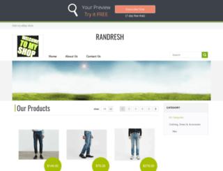 randresh.webstoreplace.com screenshot