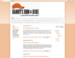 randysrun.blogspot.com screenshot