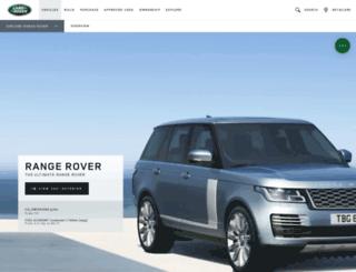 rangerover.landrover.com screenshot