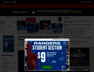 rangers.com screenshot
