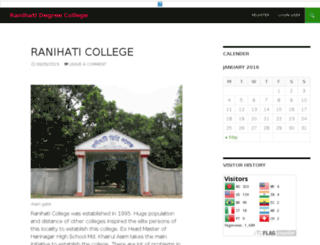 ranihatidegreecollege.com screenshot