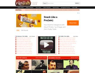 ranjish.com screenshot