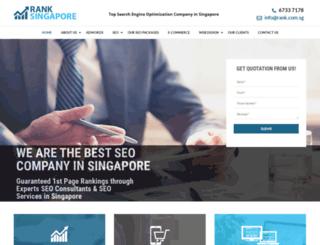 rank.com.sg screenshot
