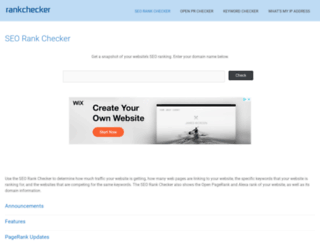 rankchecker.com screenshot