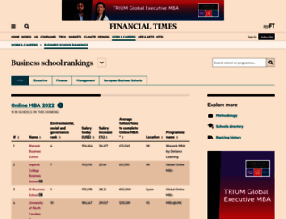 rankings.ft.com screenshot