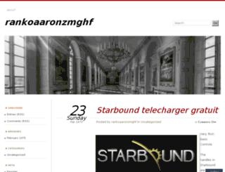 rankoaaronzmghf.wordpress.com screenshot