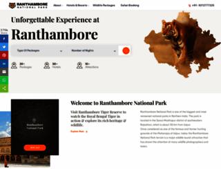 ranthamborenationalpark.com screenshot