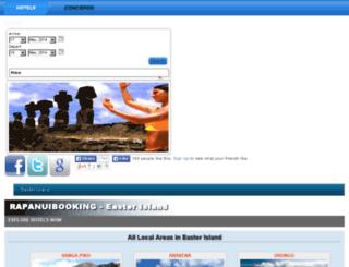 rapanuibooking.com screenshot