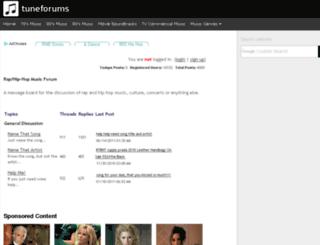 raphiphop.tuneforums.com screenshot