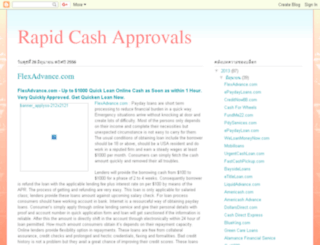 rapidcashapprovals.blogspot.com screenshot