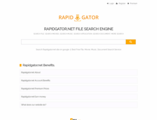 Rapid gator search engine
