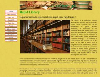 rapidlibrary.info screenshot