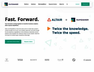 rapidminer.com screenshot