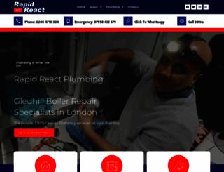 rapidreactplumbing.co.uk screenshot