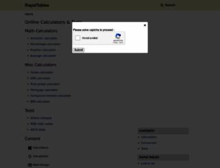 rapidtables.com screenshot