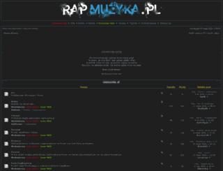 rapmuzyka.pl screenshot