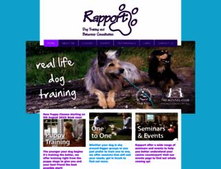 rapportdogtraining.co.uk screenshot