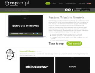 rapscript.net screenshot