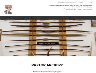 raptorarchery.com screenshot