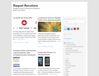 raquelrecolons.es screenshot