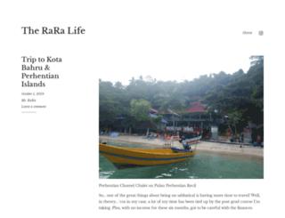 raralife.wordpress.com screenshot