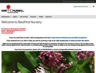 rarefindnursery.com screenshot