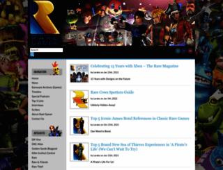 raregamer.co.uk screenshot