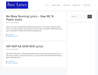 rarelyrics.com screenshot