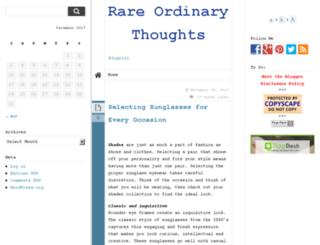 rareordinarythoughts.com screenshot