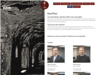 rarewine.dk screenshot